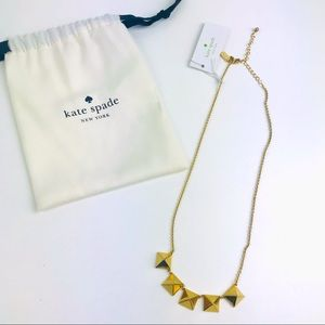 Kate Spade Gold Locked In Stud Square Necklace